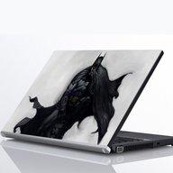 "Laptop Metallic Decals Batman Crouching 15"""