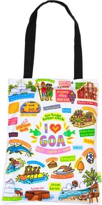 Eco Corner Small White Goa Cotton Bag