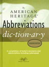 The American Heritage Abbreviations Dictionary price comparison at Flipkart, Amazon, Crossword, Uread, Bookadda, Landmark, Homeshop18