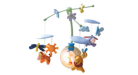 Funskool Pooh Light Up Cot Mobile