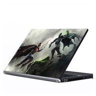 "Laptop Metallic Decals Batman and Superman Injustice 14"""