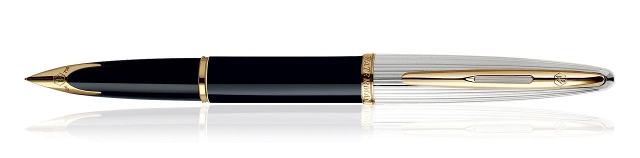 Waterman Carene Deluxe Black GT Fountain Pen (Medium Nib)
