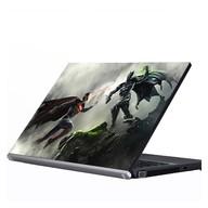 "Laptop Metallic Decals Batman and Superman Injustice 15"""