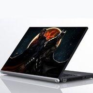 "Laptop Metallic Decals Batman and Superman Friends 14"""