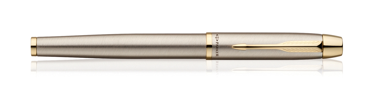 Parker IM Brushed Metal GT Fountain Pen (Fine Nib)