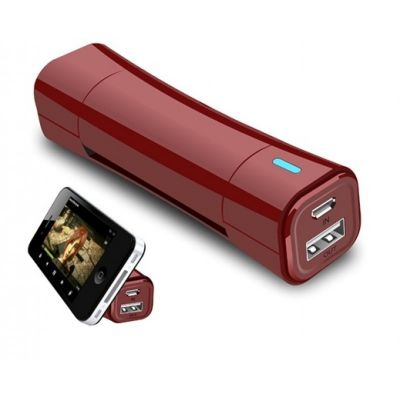 Power Cradle 2600 mAh Power Bank with Mobile Stand(Red)