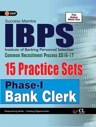 Success Mantra  Ibps Common Recritment Process 2016-17 Phase 1 Bank Clerk 15 Practice Sets