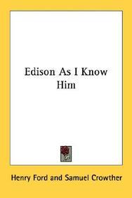Edison as I Know Him
