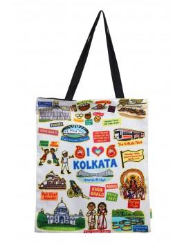 Eco Corner Big White Kolkata Cotton Bag