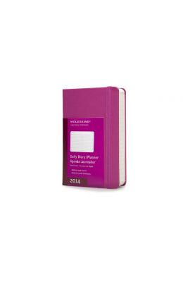 Moleskine 2014 Planner 12 Month Daily Magenta Hard Cover Pocket
