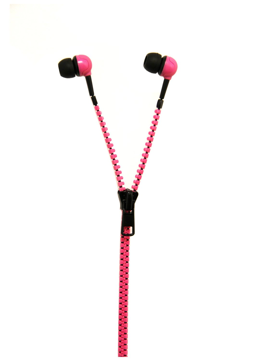 Thumbs Up Zip Earphones-Pink