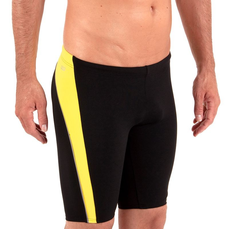 Swimming Swimsuits (Size - L-Xl) - Jammer Win Black Yellow