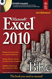 Ms Excel 2010 Bible W/Cd