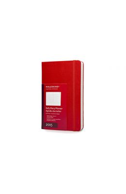 Moleskine 2015 Daily Planner, 12 Month, Large, Red, Hard Cover (5 X 8.25)
