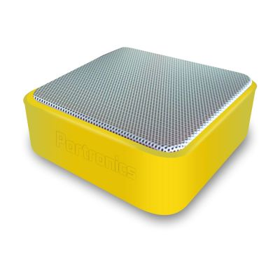 Portronics Cubix Portable Wired Speaker (Yellow)