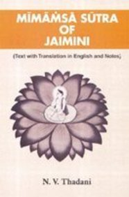 Mimamsa Sutra Of Jaimini(text With Translation In English Notes)