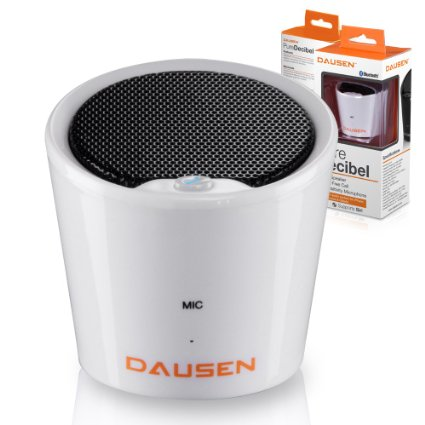 Dausen Pure Decibel Bluetooth Speaker - white