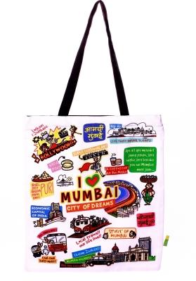 Eco Corner Big White Mumbai Cotton Bag