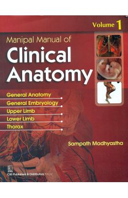 Manipal Manual Of Clinical Anatomy Vol.1 (In Four Color)
