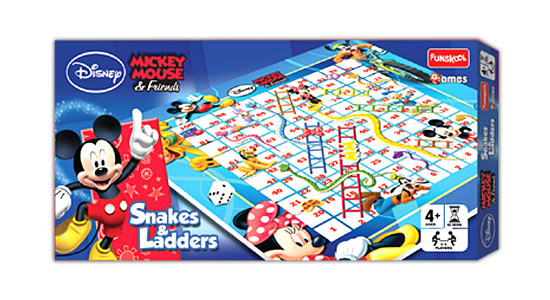 Funskool Disney Mickey and Friends Snakes and Ladders