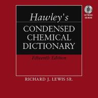 Hawley's Condensed Chemical Dictionary, Book And Cd-Rom Set