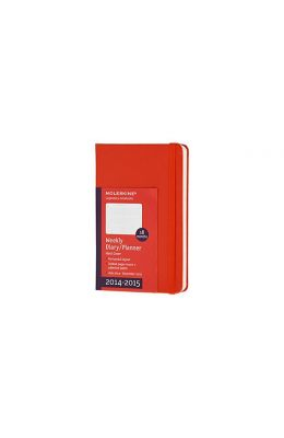 Moleskine 2014-2015 Weekly Planner, Horizontal, 18 Month, Pocket, Red, Hard Cover (3.5 X 5.5)