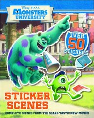Disney Monsters University Sticker Scene