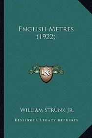 English Metres (1922)