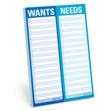Knock Knock Wants/Needs Perforated Pad