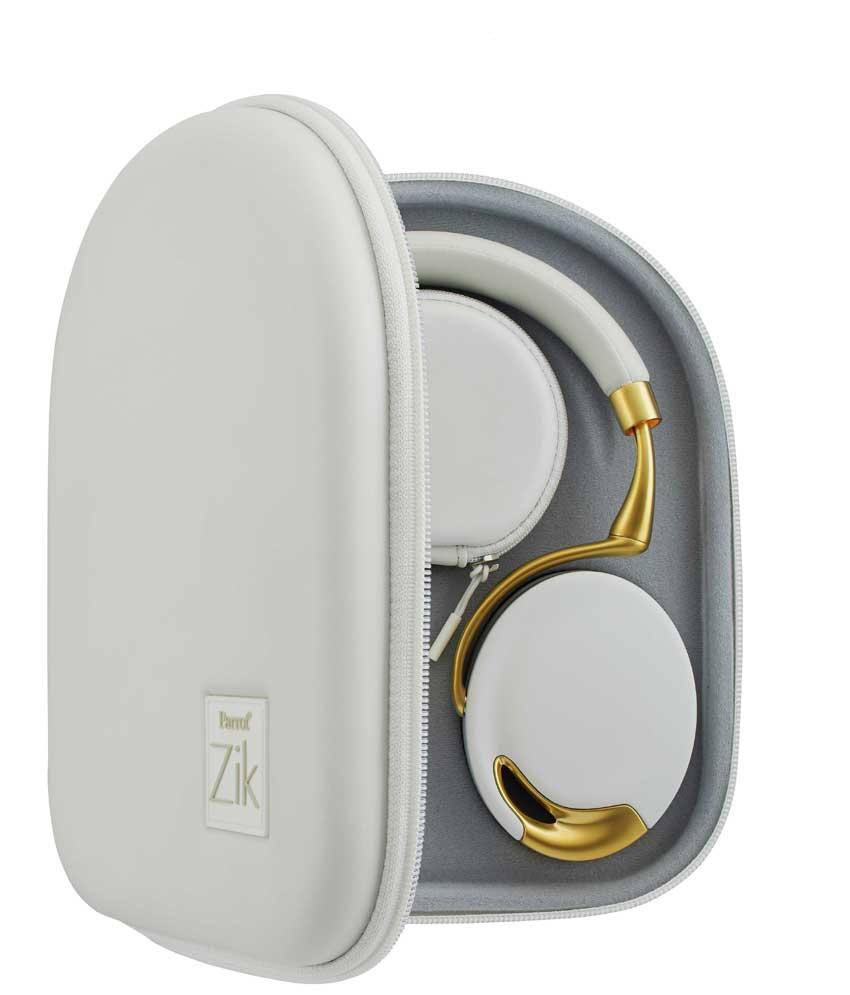 Parrot Bundle ZIK Yellow Gold + White Case