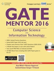 Gate Mentor 2016: Computer Science And Information Technology With Cd