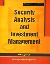 Financial Management >> Security Analysis And Investment Management