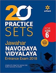 20 Practice Sets Jawahar Navodaya Vidyalaya Entrance Exam 2018 For Class 6 : Code G569