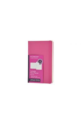 Moleskine 2014-2015 Turntable Weekly Planner, 18m, Large, Magenta, Hard Cover (5 X 8.25)