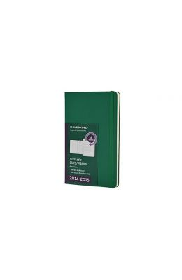 Moleskine 2014-2015 Turntable Weekly Planner, 18m, Large, Oxide Green, Hard Cover (5 X 8.25)