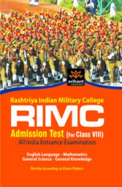 RIMC Rashtriya Indian Military College Admission Test: All India Entrance Examination (Class - 8) 1st Edition price comparison at Flipkart, Amazon, Crossword, Uread, Bookadda, Landmark, Homeshop18