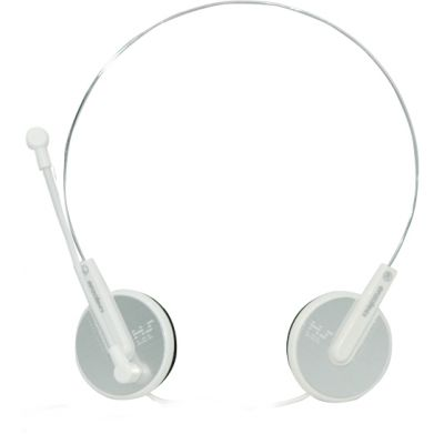 Enzatec Lightweight Premium Headphone With Microphone - (White)