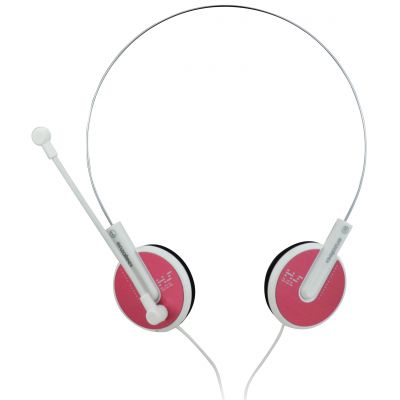 Enzatec Lightweight Premium Headphone With Microphone - (Pink)