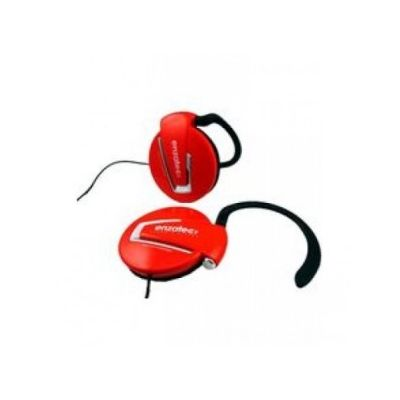 Enzatec Lightweight Premium Headphone - (red)