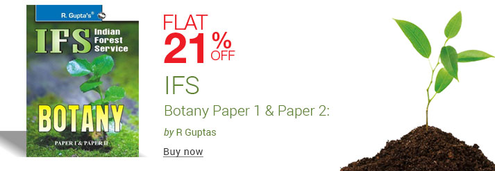 Ifs Indian Forest Service Botany Paper 1 & Paper 2: Code R-1239