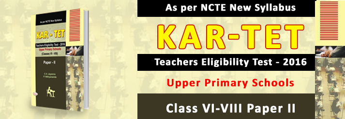 Kar Tet Teachers Eligibility Test 2016 Upper Primary Schools Class 6-8 Paper 2