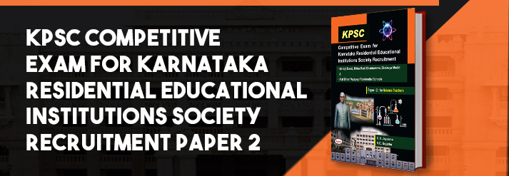 Kpsc Competitive Exam For Karnataka Residential Educational Institutions Society Recruitment Paper 2