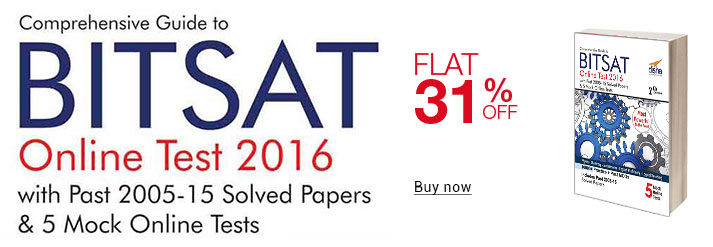 Bitsat Online Test 2016 With Past 2005-15 Solved Papers & 5 Mock Online Tests 5 Mock Online Tests