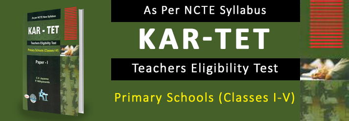 Kar Tet Teachers Eligibility Test Parper 1 For Primary Schools Classes 1-5 As Per Ncte Syllabus
