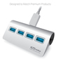 USB 3.0 Type-C 4 Ports Hub Aluminium Super Speed Hub for Mackbook