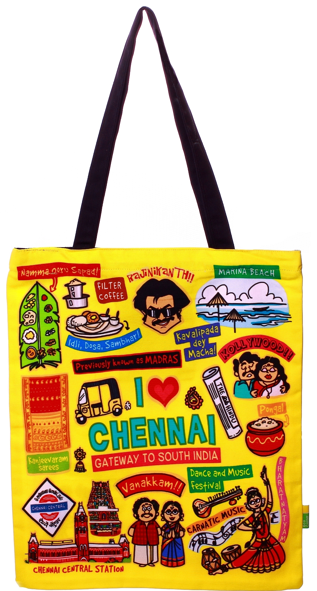 Eco Corner Big Coloured Chennai Cotton Bag