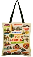 Eco Corner Big White India Cotton Bag