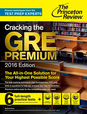 Cracking The Gre Premium 2016 For 6 Fill Length Practice Tests