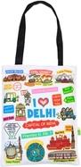 Eco Corner Small White Delhi Cotton Bag