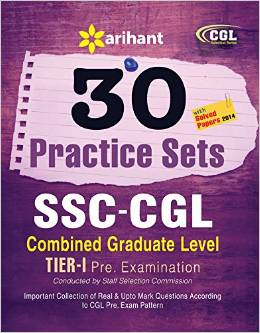 Ssc Cgl Combined Graduate Level Tier 1 30 Practice Sets With Solved Papers 2014 : Code G344
